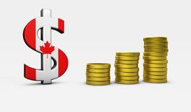 Canadian Dollar Sign Economy Concept Stock Images