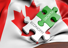 Canada economy and financial market growth concept Royalty Free Stock Photo