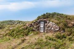 Canada en bois d'Elliston NL de porte d'entrée de cave de racine photos libres de droits
