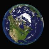 Canada Etats-Unis de l'Amérique du Nord de l'espace Éléments de cette image 3d meublés par la NASA illustration stock