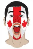Canada fan face Stock Image