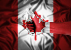 Canada fans Royalty Free Stock Images