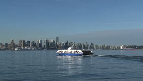 Canada ferry on his way to downtown Vancouver stock footage