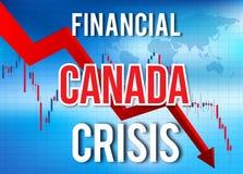 Canada Financial Crisis Economic Collapse Market Crash Global Meltdown stock illustration