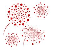 Canada fireworks design isolated on white background vector. Illustration Stock Photos