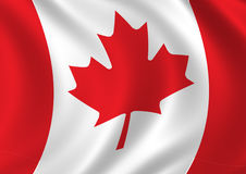 Canada flag. Computer geberated Canadian flag royalty free illustration