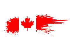 Canada flag. Grunge canada flag background,vector illustration Royalty Free Stock Photo