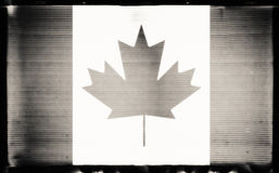 Canada flag. In grunge BW film style Stock Photography