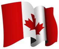 Canada flag. Stylized waving Canadian flag illustration Royalty Free Stock Image