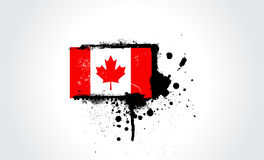 Canada flag. Grunge vector drawing of Canada's flag Royalty Free Stock Images