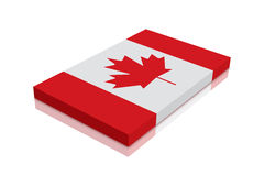 Canada Flag. 3d Render with reflection vector illustration