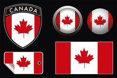 Canada flag Stock Photography