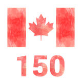 Canada flag - anniversary 150 years Royalty Free Stock Image