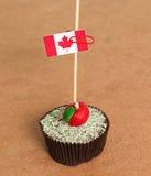 Canada flag on a apple cupcake Stock Photo