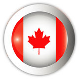 Canada Flag Aqua Button Stock Image
