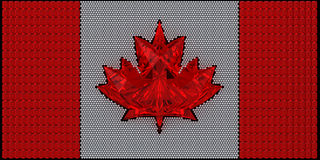 Canada flag assembled of diamonds Stock Images