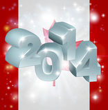 2014 Canada flag. Flag of Canada 2014 background. New Year or similar concept royalty free illustration