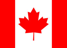 Canada flag background vector illustration. Flag Canada Stock Illustration