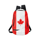 Canada flag backpack isolated on white Royalty Free Stock Images