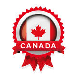 Canada flag badge vector Stock Image