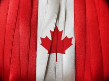 Canada flag or banner. Made with red and white ribbons Royalty Free Stock Images