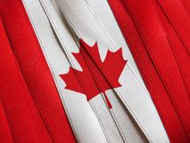 Canada flag or banner. Made with red and white ribbons Stock Photography