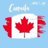 Canada flag brush strokes painted Stock Photo