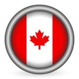 Canada flag button Stock Photo