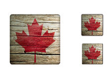 Canada Flag Buttons Stock Photography