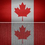 Canada Flag. Canadian fabric flags in the background. Canada Flag Royalty Free Stock Images