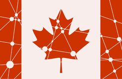 Canada flag concept Royalty Free Stock Image