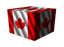 Canada flag cube Royalty Free Stock Photo
