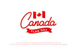 Canada Flag Day. Banner with Lettering Canada and National  Royalty Free Stock Photo