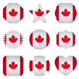 Canada flag with different shapes on a white background Royalty Free Stock Photos