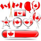 Canada flag emblem. Stock Images
