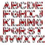 Canada flag font illustration Royalty Free Stock Image
