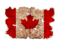 Canada flag in form of torn vintage paper. On white background with clipping path Stock Photography
