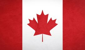 Canada flag texture Stock Images