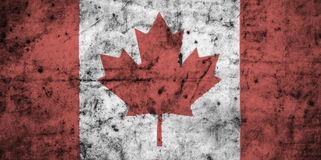 Canada flag with high detail of old dirty crumpled paper . 3D illustration Royalty Free Stock Photos