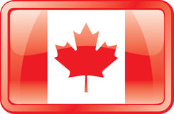 Canada Flag Icon royalty free stock photography