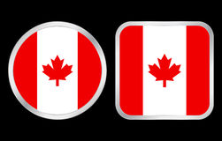 Canada flag icon Royalty Free Stock Photos
