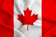 Canada flag illustration stock illustration