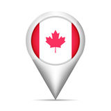 Canada flag map pointer with shadow. Vector illustration Stock Image