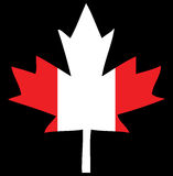 Canada Flag Maple Leaf. Illustration of the canadian maple leaf in the colors of the candadina flag Stock Photos