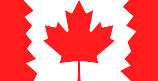 Canada flag with maple leaf Stock Photography