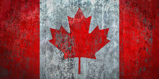 Canada Flag painted on a Wall. Ddistressed Painting of a Flag on an old Wall Royalty Free Stock Photos