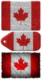 Canada Flag. Painted on wood tag Stock Photo