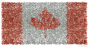 Canada flag of precious stones Stock Image