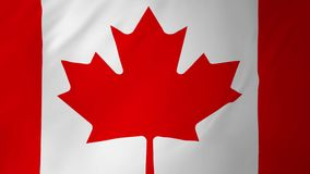 Canada flag seamless animation 2 in 1. Canada flag seamless looping computer animation stock footage