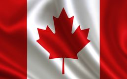 Canada flag. A series of `Flags of the world.` The country - Canada flag Royalty Free Illustration